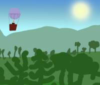 Садриева-Рамиля-Пейзаж-с-воздушным-шаром